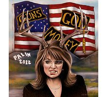 Sarah Palin original art Photographic Print
