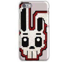 PIXEL ART - RABBIT SKULL (RED) iPhone Case/Skin