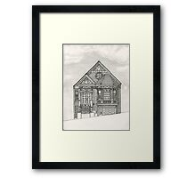 House on Potrero Hill, San Francisco Framed Print