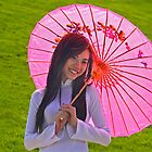 Pink Umbrella by cclaude