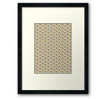 Shock Emoji Pattern Framed Print