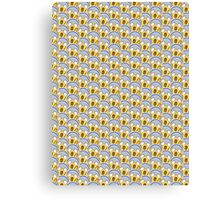 Shock Emoji Pattern Canvas Print