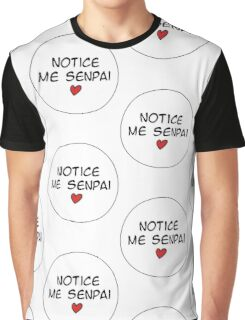 MANGA BUBBLES - NOTICE ME SENPAI  Graphic T-Shirt