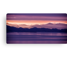 Sunrise Mountains from the Isle of Skye Canvas Print