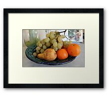 Fruit in Tuscany Framed Print