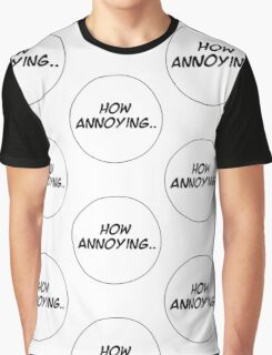 MANGA BUBBLES - HOW ANNOYING.. Graphic T-Shirt