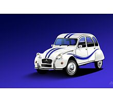 Citroen 2CV Beachcomber Poster Illustration by Autographics