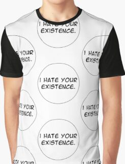 MANGA BUBBLES - I HATE YOUR EXISTENCE Graphic T-Shirt