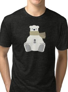 LOST Dharma Polar Bear Holidays Tri-blend T-Shirt