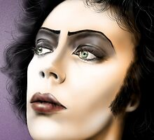 Frank-n-Furter, Tim Curry original art by Dori Hartley by Dori Hartley
