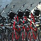 Bicycles somewhere on the streets of San Fransisco by kellimays