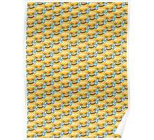 Crying Laugh Emoji Pattern Poster