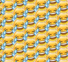 Crying Laugh Emoji Pattern Sticker