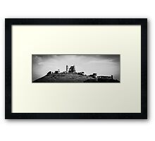 England Panorama BW - Corfe Castle Framed Print