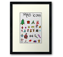xmas icons Framed Print