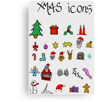 xmas icons Canvas Print