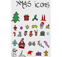 xmas icons Photographic Print