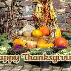 Happy Thanksgiving Greeting - Harvest Scene by MotherNature