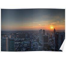 Frankfurt cityscape Poster
