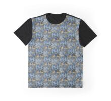 Fauns and Pheasants in Blue and Gold Graphic T-Shirt