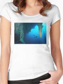 Blue Hole Belize Women's Fitted Scoop T-Shirt
