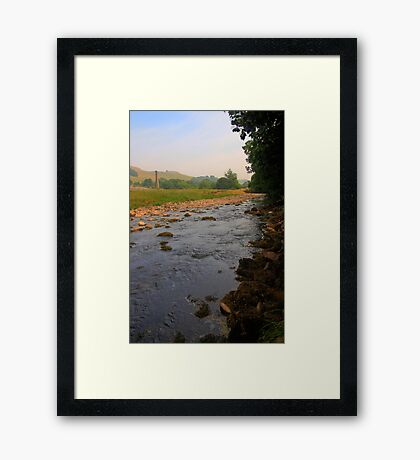 River and fields on a summer afternoon Framed Print