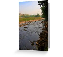 River and fields on a summer afternoon Greeting Card