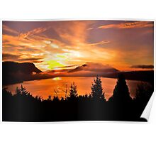 Sunrise Mt MAXWELL, Maple Bay, BC, Canada Poster