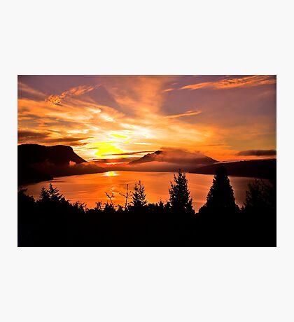 Sunrise Mt MAXWELL, Maple Bay, BC, Canada Photographic Print