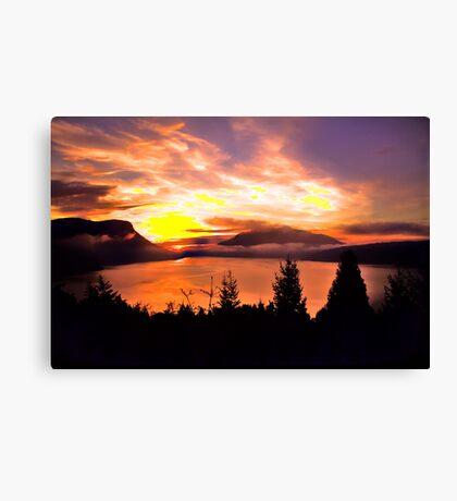 Sunrise Mt MAXWELL, Maple Bay, BC, Canada II Canvas Print