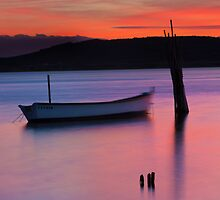 Sunset mooring by Dave Hare