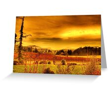 VIneyards, Maple Bay Canada Greeting Card