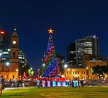 Christmas Tree, Victoria Square Adelaide by Paula McManus