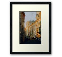 Old Moscow lane Framed Print
