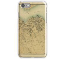 Maps Map of Bar Harbor, Maine,  iPhone Case/Skin