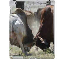 BULL FIGHT  IN THE OUTBACK iPad Case/Skin