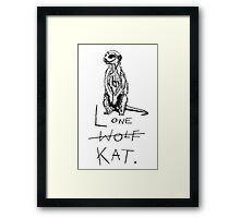 Lone Wolf?  Framed Print