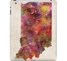 indiana map warm color iPad Case/Skin