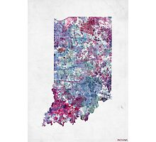 indiana map cold color Photographic Print