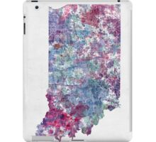 indiana map cold color iPad Case/Skin