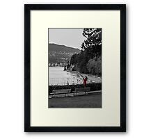 The lady in Red Framed Print