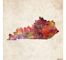 kentucky map warm color Photographic Print