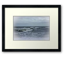 Silvery Surf Framed Print