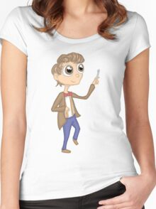 eleventh doctor cutie Women's Fitted Scoop T-Shirt