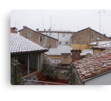 from the roofs of Parma I think .....Italy ... World- VETRINA RB EXPLORE 10 DICEMBRE 2013 Canvas Print