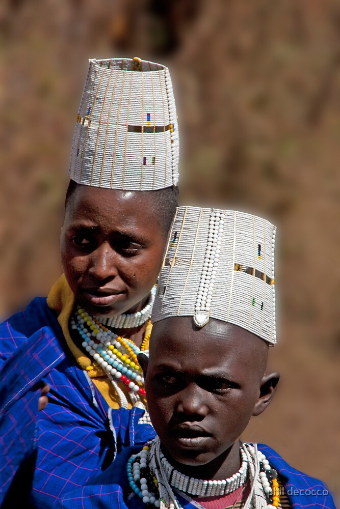 Masai Teens by phil decocco
