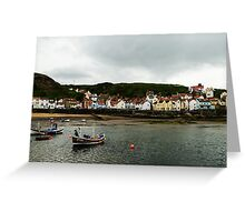 Boats in Staithes Greeting Card