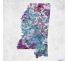 mississippi map cold colors Photographic Print