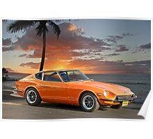 1971 Datsun 240Z 'The Legend Begins' Poster