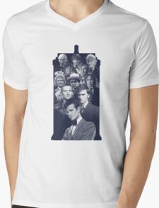 All of the Doctors in the TARDIS Mens V-Neck T-Shirt